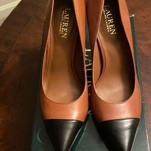 Ralph Lauren Brown and Black 3 inch heels.